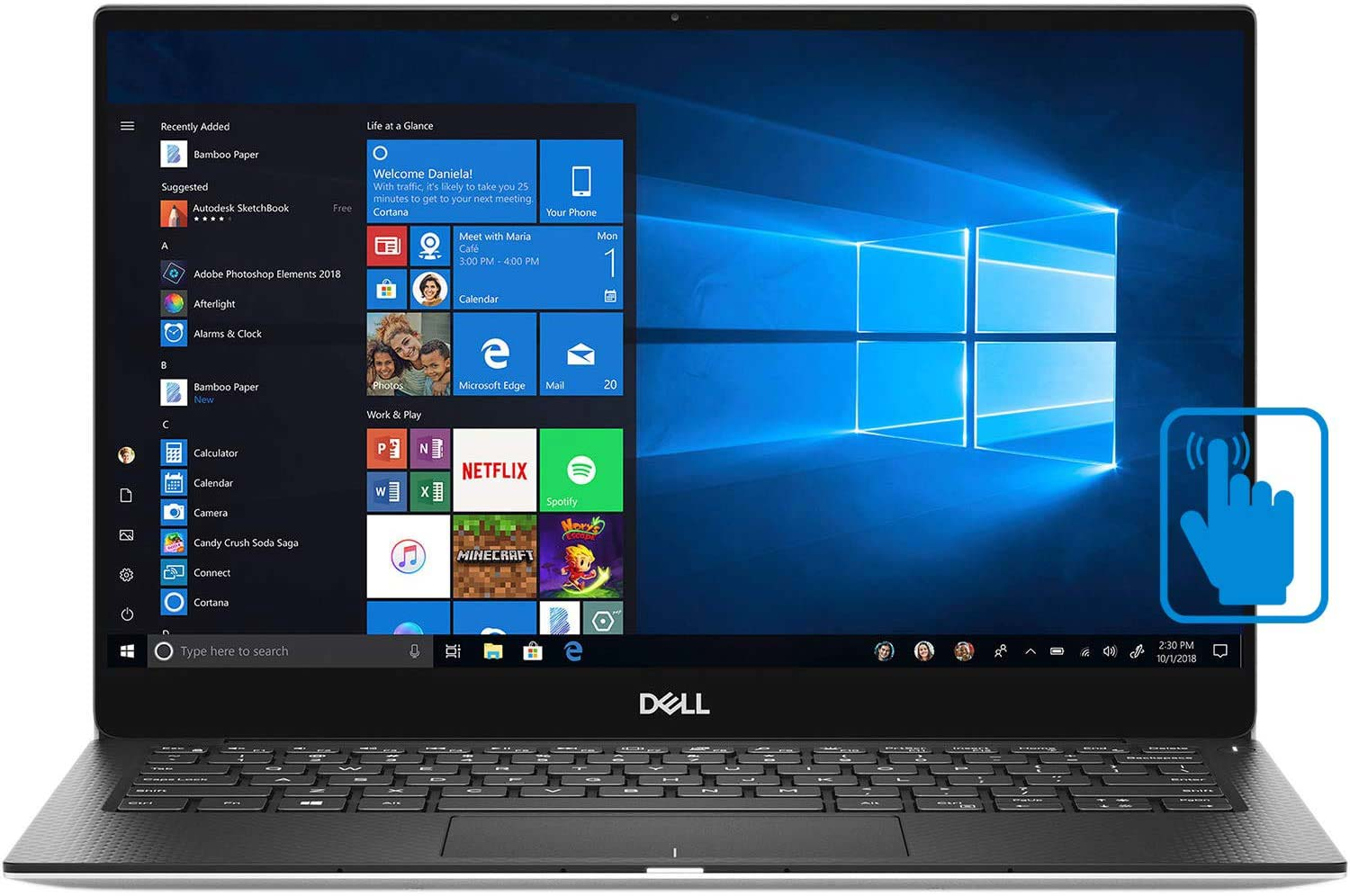 Dell XPS 13 - one of the best touchscreen laptops under 1000 dollars