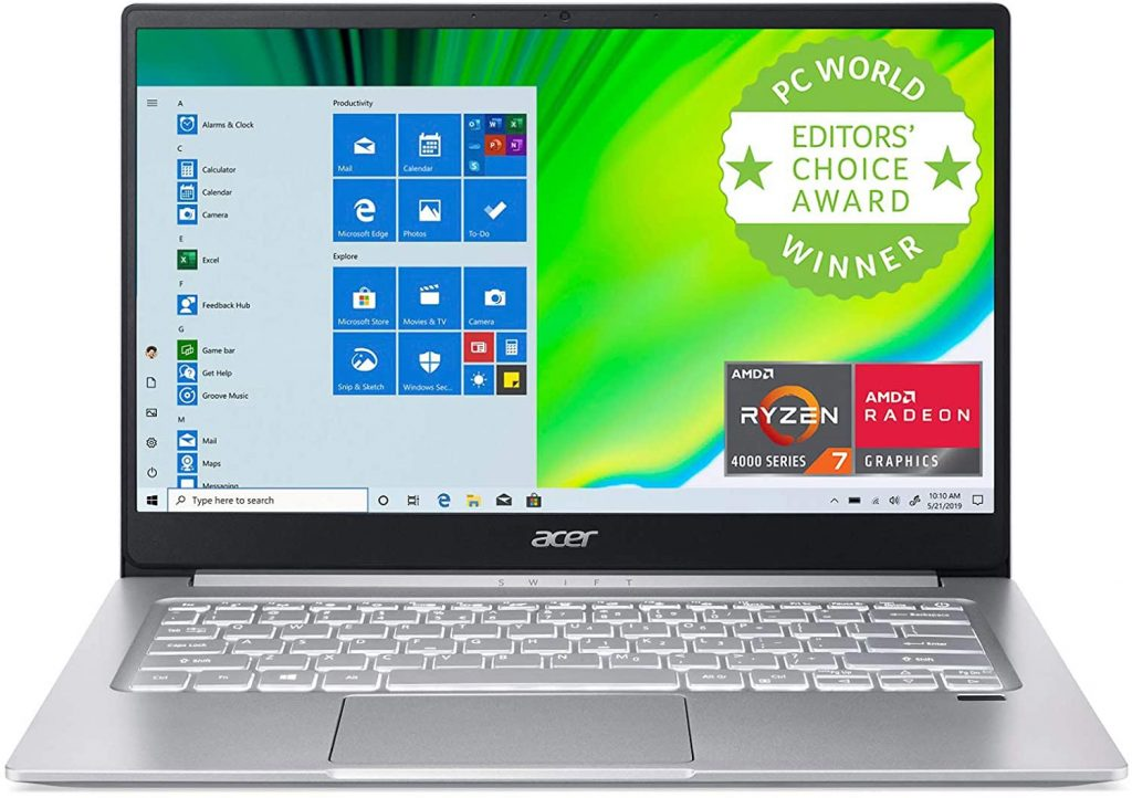 Acer Swift 3 - one of the best laptops under 800 dollars